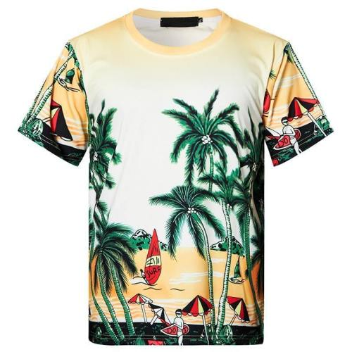 Mens T Shirt Summer Beach Printing Pattern Tee