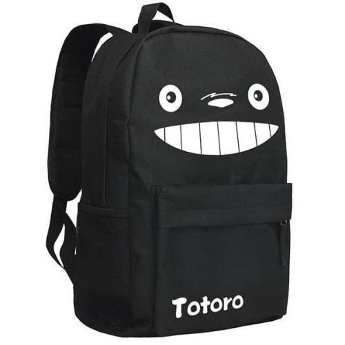 Totoro  Image Pattern Black/Camo Backpack Bag