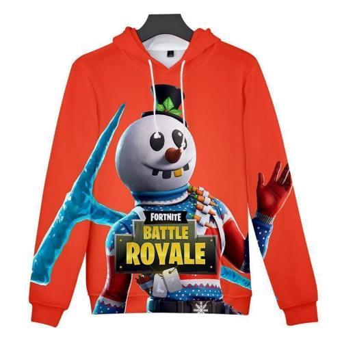 Fortnite Hoodie Unisex Orange Sweatshirt