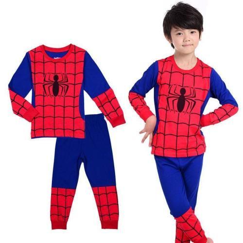 Kids Boy Cotton Sleepwear Spider Man Pajamas Birthday Clothing Costume