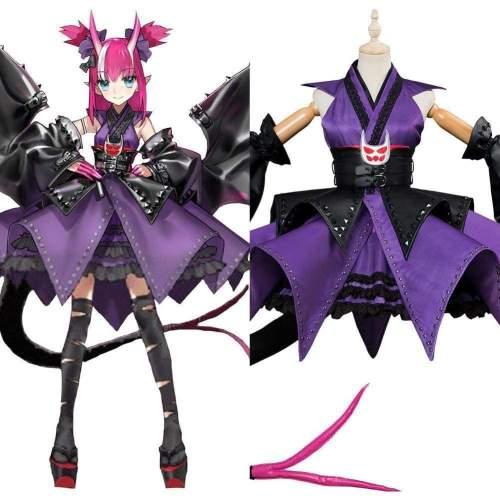 Fate/Grand Order Elizabeth Bathory Halloween Kimono Cosplay Costume