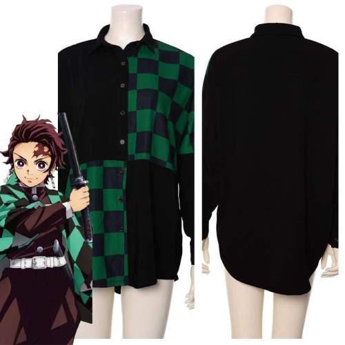 Tanjirou/Tanjiro Kamado Demon Slayer: Kimetsu No Yaiba Uniform Cosplay Costume