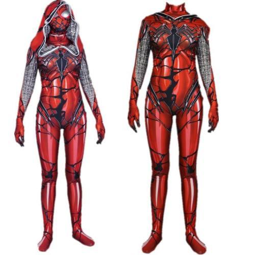 Red Carnage Venom Spider Scarlet Blood Gwen Stacy Cosplay Costume Suit