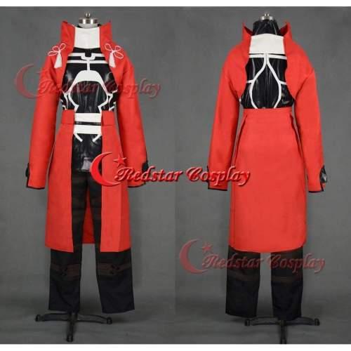 Fate Stay Night Emiya Archer Cosplay Costume Red Uniform
