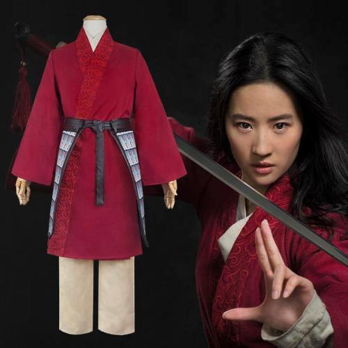 Movie Hua Mulan Halloween Cosplay Costume Hanfu For Girls Garments