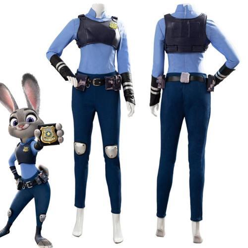 Judith Laverne Hopps Zootopia/Zootropolis Suit Cosplay Costume