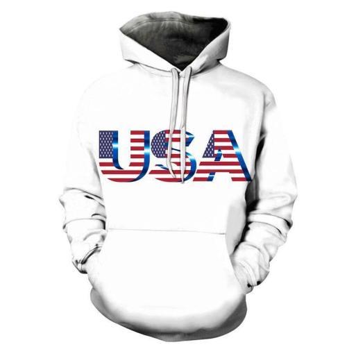 Usa Logo 3D - Sweatshirt, Hoodie, Pullover