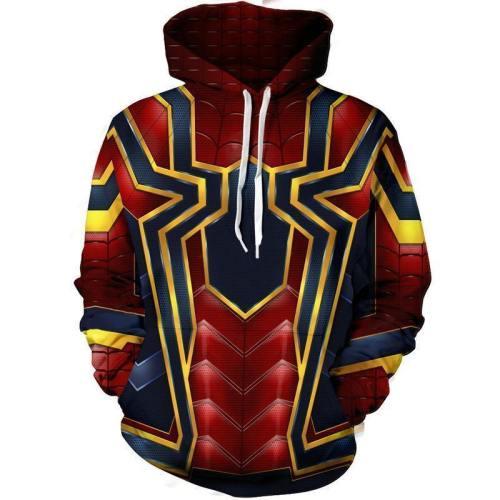 Spider-Man Hoodie - The Avengers Pullover Hoodie Csos00J