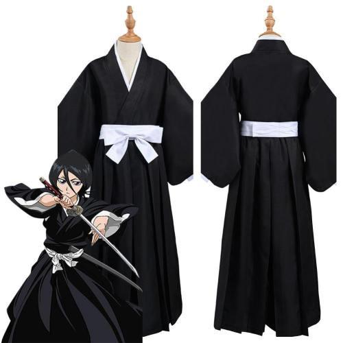 Bleach Kurosaki Ichigo/Kuchiki Rukia/Hitsugayatoushirou Die Pa Kimono Outfits Halloween Carnival Suit Cosplay Costume