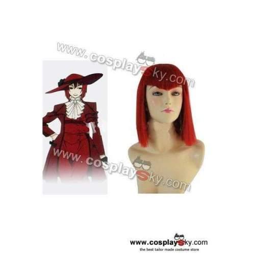 Black Butler Kuroshitsuji Angelina Red Cosplay Wig