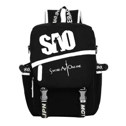 Sword Art Online Sao Messenger Bag Canvas Backpack Travel Laptop Bag