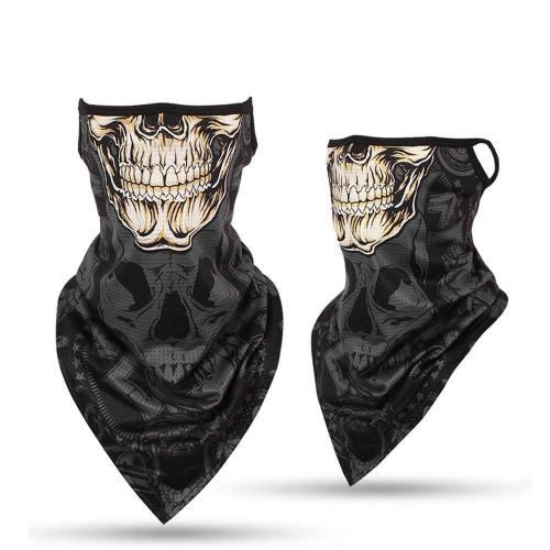 Seamless Skeleton Ghost Skull Face Mask