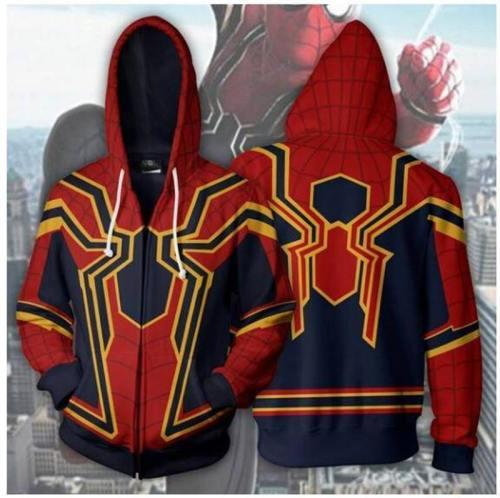 Spider-Man Hoodie - The Avengers Zip Up Hoodie Csos00I