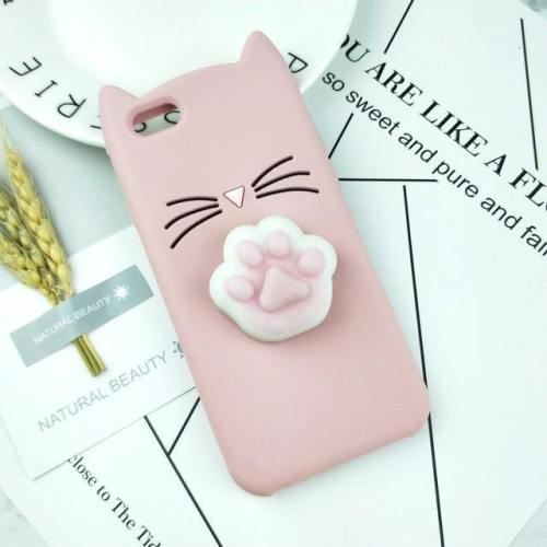 Cat Phone Case With 3D Squishy Kitty Paw