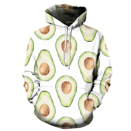 Avocado 3D Sweatshirt Hoodie Pullover