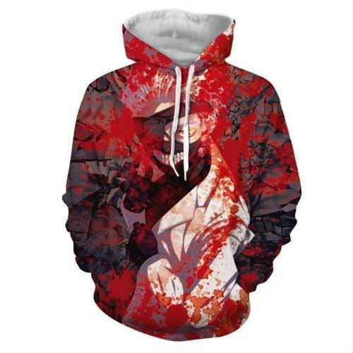 Unisex Tokyo Ghoul Hoodies Ken Kaneki Printed Pullover Jacket Sweatshirt