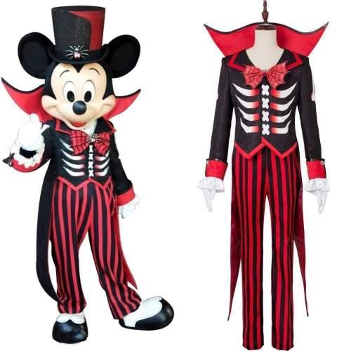 Disney Mickey Mouse Halloween Costume Suit Tuxedo Black Red