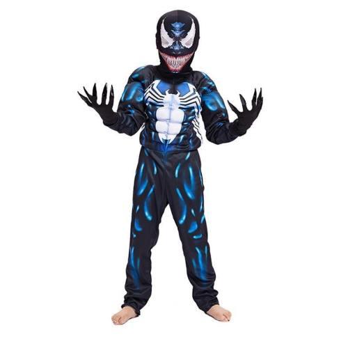 Kids Boys Spiderman Muscle Cosplay Superhero Venom Halloween Costume