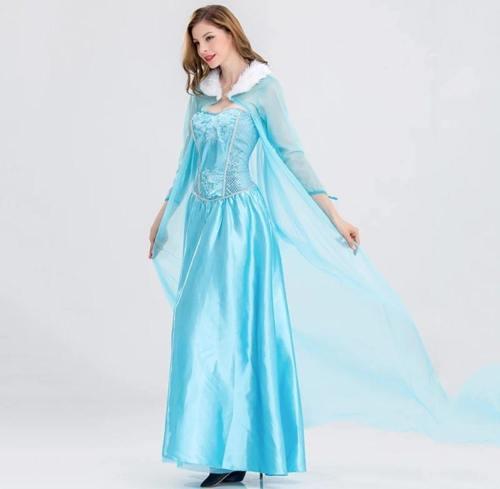 Frozen 2 Adult Princess Elsa Dress Queen Cosplay Women Costumes