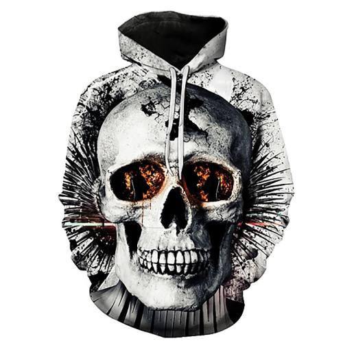 Awesome Fractured Skull 3D Print Hooded Sweatshirt