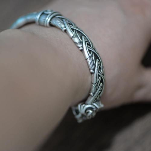 Viking Wolf Head Intricate Bracelet