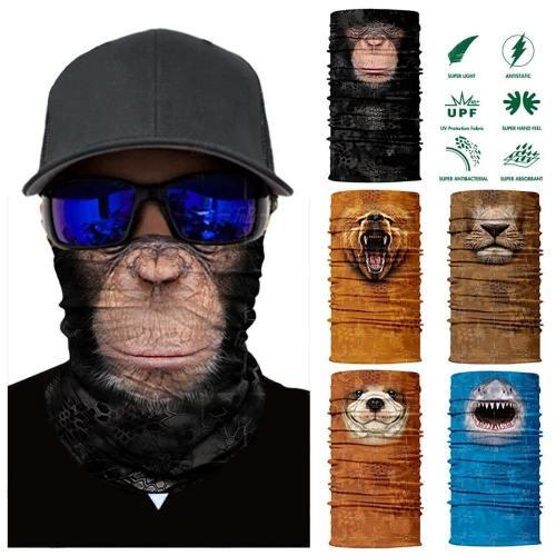 Multi-Purpose 3D Animal Themed Face Mask Neck Gaiter