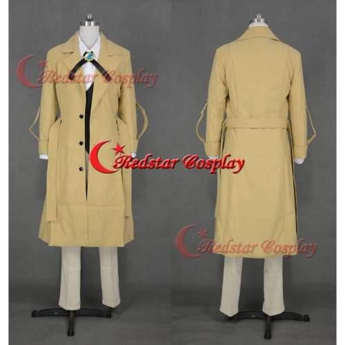 Bungo Stray Dogs Osamu Dazai Cosplay Costume Trench Coat Vest Pants Uniform Suit
