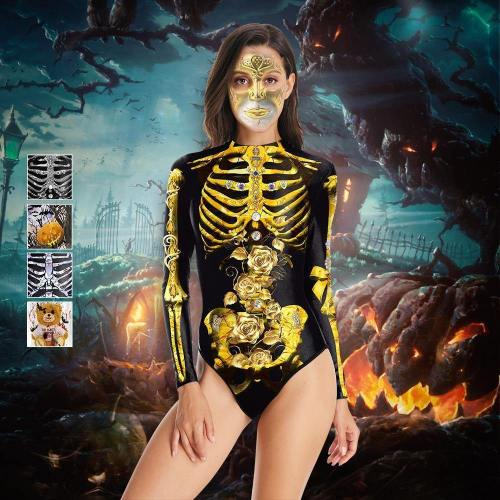 Halloween Party Sexy Dress Skull Costume For Women And Girls