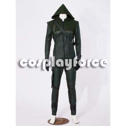 Deluxe Green Arrow Oliver Queen America Cosplay Costume