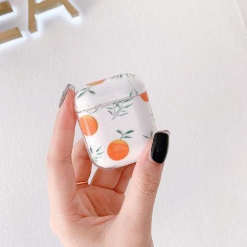 Tropical Leafy Floral Fruit Nature Apple Airpods Protective Case Cover