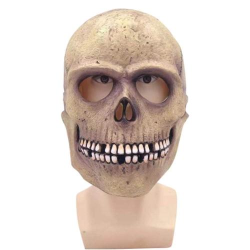 Skull Latex Mask Head Cover Halloween Cosplay Props