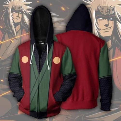 Naruto Hoodie- Jiraiya Sensei Zip Up Hoodie