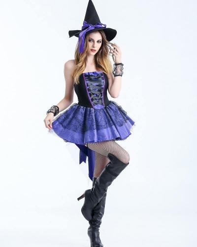 Halloween Witch Costume Sex Girls Dress Costumes
