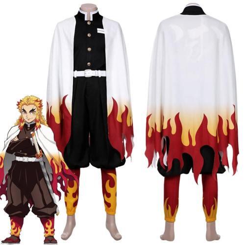 Demon Slayer Rengoku Kyoujurou Outfit Cosplay Costume
