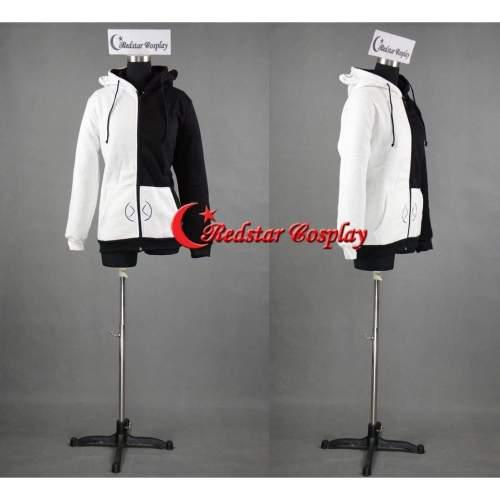Dangan Ronpa Monobear Monokuma White Black Bear Cosplay Costume Jacket Hoodie