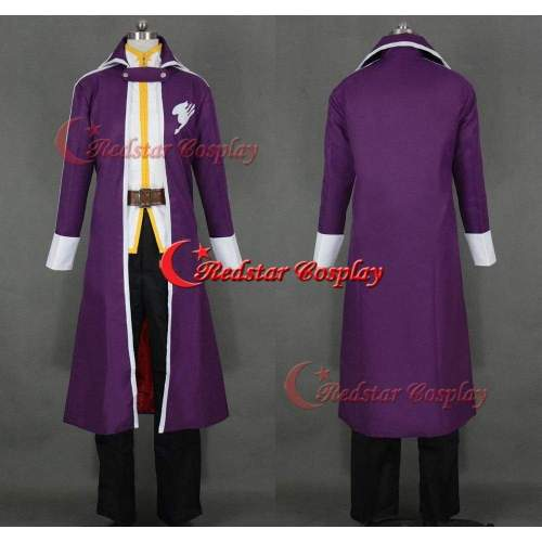 Gray Fullbuster Costume - Fairy Tail Cosplay Gray Fullbuster Purple Cosplay Costume