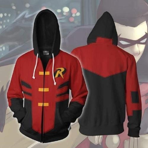 Batman Hoodie - Robin Tim Drake Zip Up Hoodie
