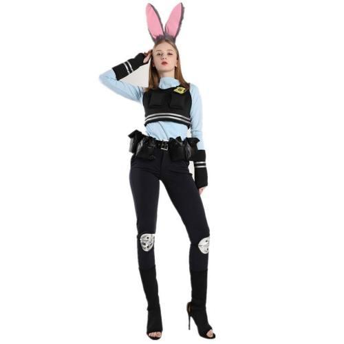 Zootopia Judy Hopps Costume Police Uniform