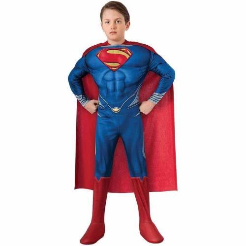 Children Superman Jumpsuit Cosplay Clothing Boys Superhero Halloween Costume For Kids