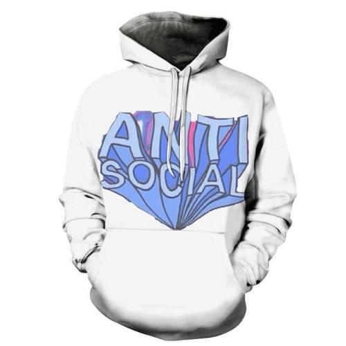 The Anti Social One 3D - Sweatshirt, Hoodie, Pullover