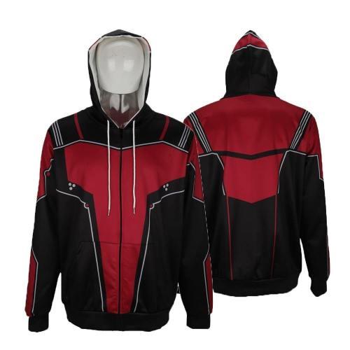 Movie Avengers: Endgame Antman Men 3D Print Hoodies Streetwear Casual Cospaly Jacket Sweatshirt Coat Adult Halloween Party