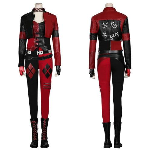 The Suicide Squad ()- Harleen Quinzel/Harley Quinn Coat Pants Outfits Halloween Carnival Suit Cosplay Costume