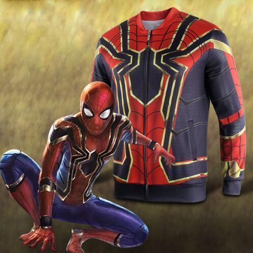 Avengers Infinity War Spider-Man  Cosplay Coat Baseball Jacket