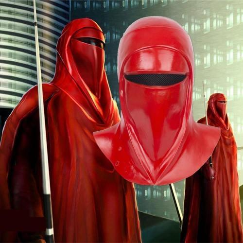 Star Wars Emperor'S Royal Guard Soldiers Cosplay Mask Latex Full Head Red Helmet