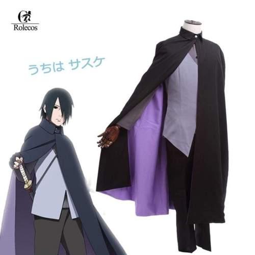 Japanese Anime  Boruto Naruto The Movie Uchiha Sasuke Cosplay Costume Customized Uniform Suit
