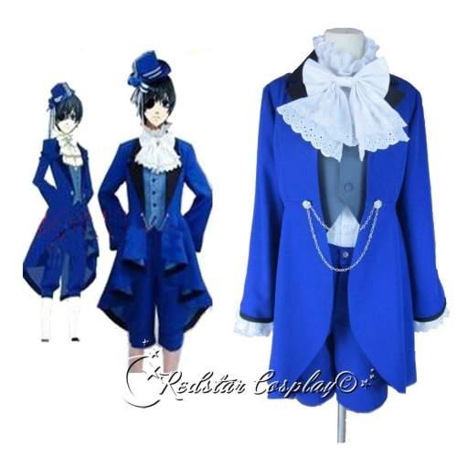 Kuroshitsuji Ciel Phantomhive Blue Cosplay Costume - Custom made in Any size