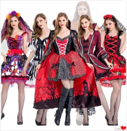 Vampire Brides Love Over Death Demon Costume Dress Zombie Halloween Cosplay