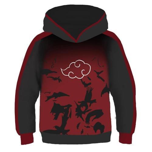 Kids Anime Hoodies Naruto Pullover 3D Print Jacket Sweatshirt