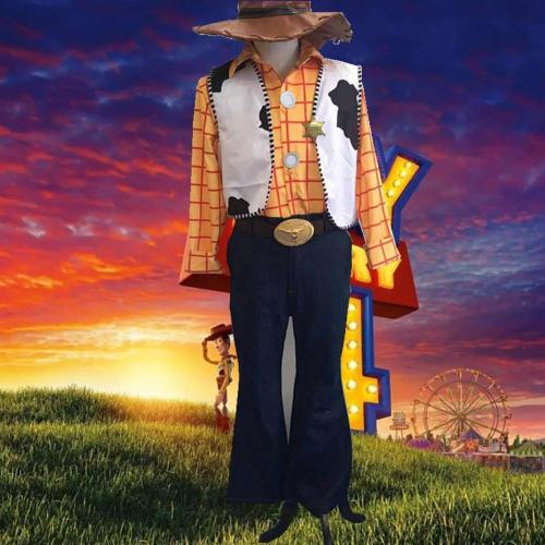 Toy Story 4 Woody Cos Full Set Cosplay Costume Cowboy Sheriff