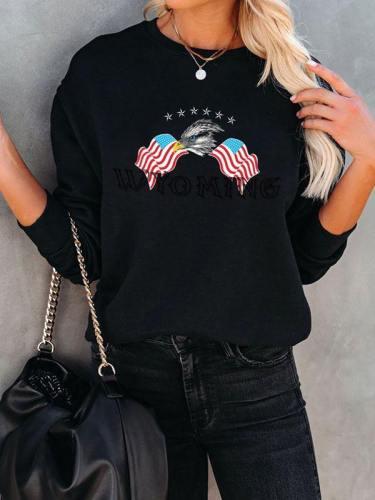 Usa Flag Graphic Eagle Sweatshirt